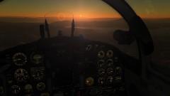 Vuelo al amanecer en el Northrop F-5E