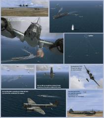 Ju-88 contra el acorazado TÚNEZ