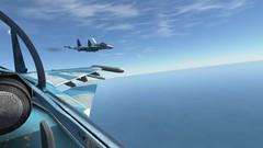 En RTB ya al final del exámen con los Su-33