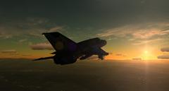 MiG al atardecer