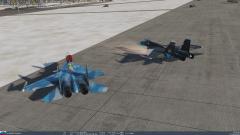 CR Su-25/T, Su-27/33 y Mig-29.