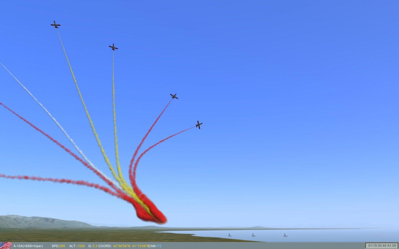 Primeros tiempos de la Patrulla Águila virtual del E69